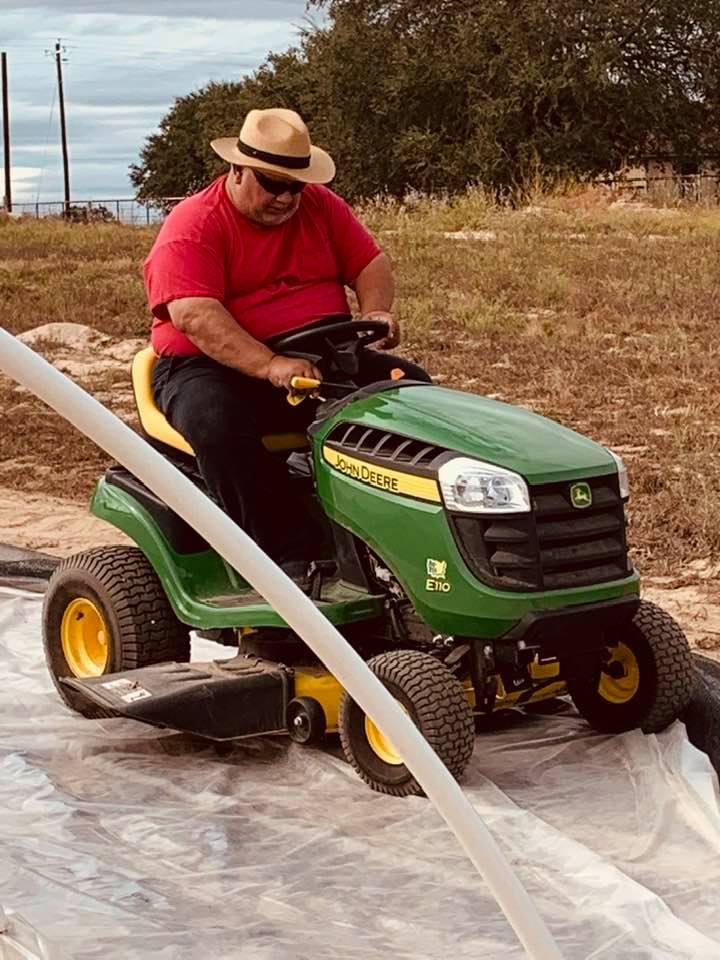 David is loving the farm life!