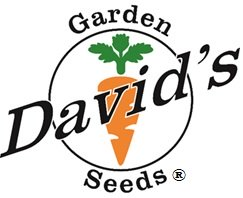 The logo for David's Garden Seeds®. Every time you see this, think of high quality Non-GMO seeds because that is what we provide.